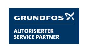 Logo von Grundfos, dem Service Partner von Buripump